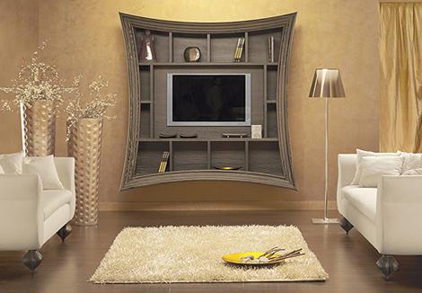 Дизайн возле телевизора