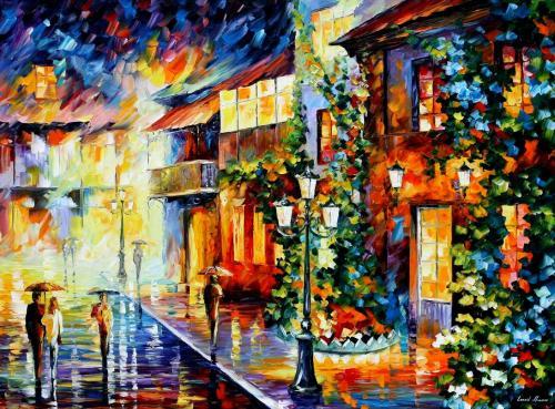 Каждая картина Леонида Афремова - это результат долгого кропотливого процесса, каждая рождается из глубин его души...