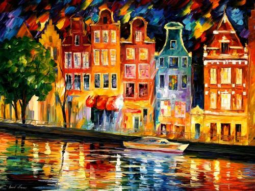 Художник Леонид Афремов родился в городе Витебске (Белоруссия)в 1955 году.  В этом же городе родился Марк Шагал.