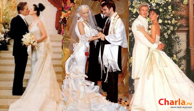 Фото звезд в свадебных платьев