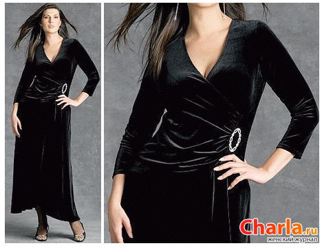 Черные коктейльные платья для высоких полных женщин